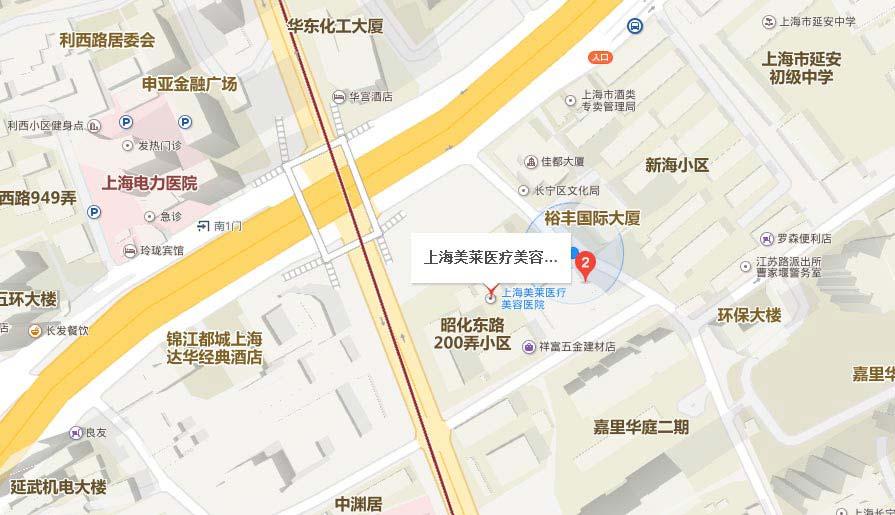 上海美莱来院路线